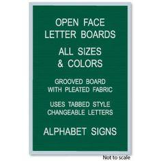 Open Face Letter Board 18W x 24H