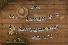 Always love a photo wall! Sweden Apple Orchard Wedding: Therese + Oskar-Ture