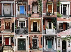 Front Doors on Historic Beacon Hill Boston & Doors of Beacon Hill by jocelynwedge via Flickr | Doors | Pinterest ...
