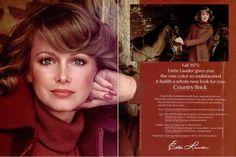 Vintage ads of the 1970s : Karen Graham, Estee Lauder Ad (1975)