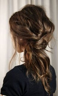 Pretty, relaxed hair