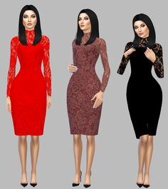 Open Back Lace Dress • @simply-simming