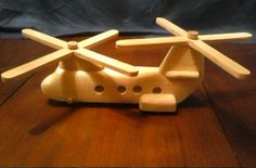 Wood Toy Helecopter by TheHammeredThumb on Etsy