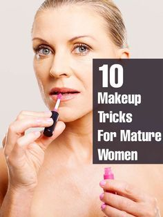 When you turn over 50, you need to know the right makeup application so as look younger! Learn the tips on makeup for mature women that ... #makeup