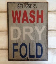 Hanging Laundry Sign Wash Dry Fold Repeat Shabby Chic Hanging Laundry Sign Washroom