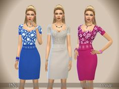 The Sims Resource: Tris dress by Paogae • Sims 4 Downloads