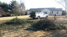 A few pics from our job yesterday morning. two truck loads of branches that fell from the ice storm in Ijamsville, MD.  American Junk Solutions, LLC www.AmericanJunkSolutions.com