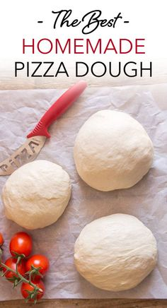 Best Pizza Dough, this basic Pizza Dough Recipe is the only pizza recipe you will ever need. Authentic Italian Pizza never tasted so good. The Best Homemade Pizza Dough Recipe, Easy Homemade Pizza, Pzza Dough Recipe, Recipe For Pizza Dough, Homeade Pizza Dough, Homemade Pizza Crust Recipe, Perfect Pizza Dough Recipe, Healthy Pizza Dough, Making Pizza Dough