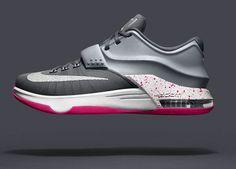 54b9f5b29049 KD 7 Option VII ID Wolf Grey Metallic Silver Crimson Nike Shoes Cheap