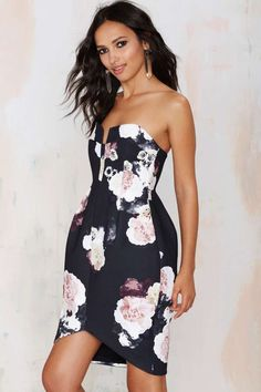 Keepsake Divide Strapless Dress - Floral - Going Out | Body-Con | Keepsake