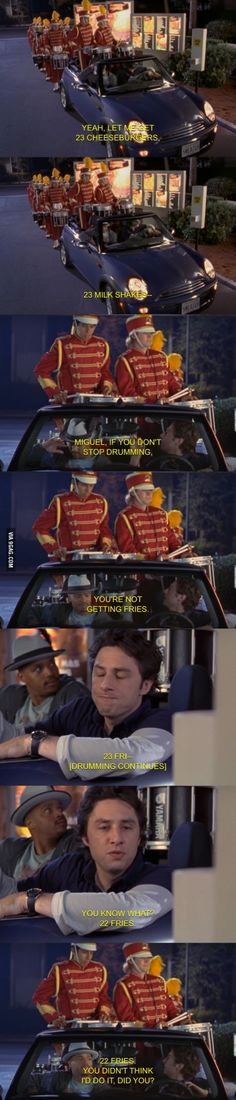 A reminder why Scrubs was one of the best TV shows ever.>>>>>> Okay I may have to watch this show.if this ain't an accurate representation of some ppl in drumline idk what is. Music Jokes, Music Humor, Funny Music, Marching Band Memes, Marching Band Trombone, Marching Band Problems, Funny Memes, Hilarious, Film