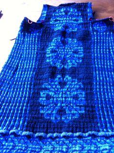 Achterkant Turkse jas, naar een patroon van Christel Seyfarth
