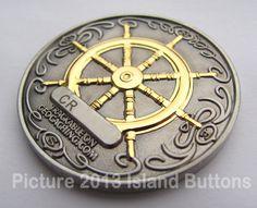 2007 Compass Rose Geocoin - Antique Silver & Polished Gold Version (back)