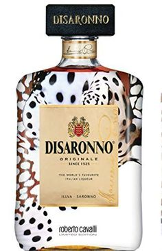 Disaronno Roberto Cavalli Amaretto liqueur is created from a secret blend of exotic herbs and spices steeped apricot kernel oil for its exquisite distinctive flavour. An effortless Italian chic liqueur perfect for any occasion. Roberto Cavalli, Alcohol Bottles, Perfume Bottles, Wine Bottles, Cocktails, Alcoholic Drinks, Amaretto Sour, Italian Chic, Beer