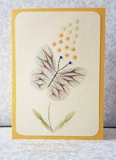 Geburtstag - Fadengrafik Grußkarten Set 246 Schmetterling - ein Designerstück von Bastelfan1809 bei DaWanda