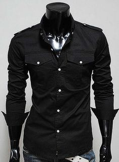 Fvogue Hot Selling Fabulous Pockets Chest Decoration Shirt-$15.99