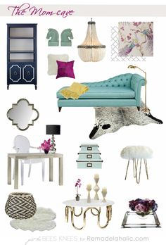 Relax in a beautiful, calming room, all to yourself! Tips for creating a Mom cave on Remodelaholic.com