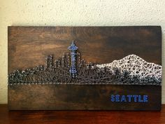 Custom Seattle Skyline String Art by CactusCustomDesigns on Etsy