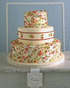Calico Cake   Martha Stewart Weddings