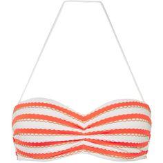 Seafolly Coast to Coast Bandeau Bikini Top, Nectarine ($83) ❤ liked on Polyvore featuring swimwear, bikinis, bikini tops, bathing suits, bandeau tops, bathing suits two piece, seafolly swimsuit, swimsuits bikinis and bandeau swim suit