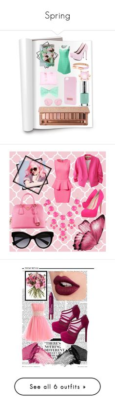 """Spring"" by veronica-babygirl-ruiz ❤ liked on Polyvore featuring AX Paris, Ted Baker, Urban Decay, Tiffany & Co., Oliver Peoples, Chanel, Oneness, Chicnova Fashion, Prada and Carvela Kurt Geiger"