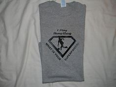 T-Shirt Bowling is My Superpower Funny 100% Cotton L, gray Pro Delta Short Slev