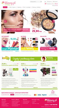 Shop for a cosmetic company | Design: www.pinkelephant.pl /web design /layout /portfolio /web /design /logo /shop