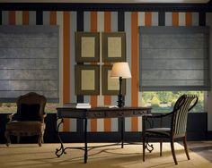 Designer Screen Roman Shades In The Office. Find This Pin And More On Home  Office Window Treatments ...