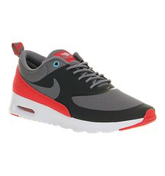Nike Air Max Thea Anthracite Grey Legend Red - Hers trainers