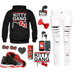 Kitty Gang ^.^, created by omgtwixx on Polyvore