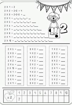Multiplication table in magical numbers. Fun Math Worksheets, 2nd Grade Worksheets, 2nd Grade Math, Math School, Math Multiplication, Math Addition, Math For Kids, Math Classroom, Teaching Math