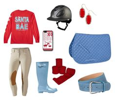 """""""Red and blue Christmas ride"""" by thepreppypony on Polyvore featuring Hunter, Kendra Scott, preppy, horses, equestrian and Prep"""