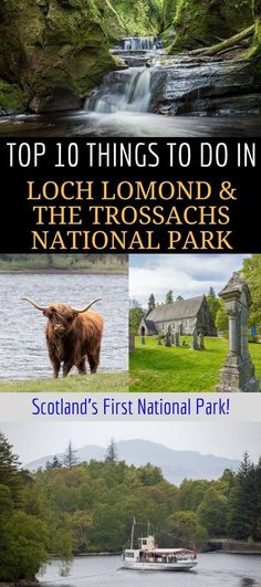 A guide to visiting Loch Lomond & the Trossachs National Park, Scotland's very first national park. Loch Lomond is a popular area for nature and outdoor seekers and makes an easy weekend or day trip from Glasgow or Edinburgh Scotland. We'll share the #scotlandtravel
