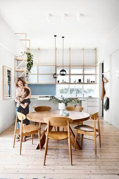 Coronado Acacia Wood Patio Bistro Set with Cushions - Teak Finish - Christopher Knight Home Dining Room Design, Dining Room Decor, Japanese Interior, Home, Interior, Formal Dining Room, Dining, Kitchen Remodel, Home Decor