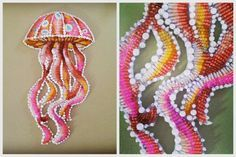 Seed bead embroidered Jelly Fish. Eleanorpigman.blogspot.com