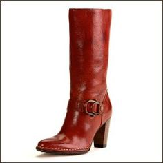 red leather boots my-style Red Leather Boots, Red Boots, Cute Shoes, Lady In Red, Riding Boots, Heeled Boots, Autumn Fashion, Footwear, My Style