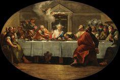 Francesco Fontebasso (1707-1769) : la dernière cène. 1762. Huile sur toile. 132 x 193 cm. Saint-Pétersbourg, musée de l'Ermitage.