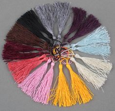 Mixed Silky Fringe Decorative Tassel DIY Accessories For Jewelry Curtain Diy Tassel, Tassels, Diy Accessories, Diy Art, Interior Decorating, House Design, Curtains, House Styles, Crafts
