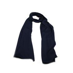 Echarpe Lisa Azul Marinho #echarpe #echarpes #lenços #lenço #scarf #scarfs