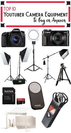 Top 10 Youtuber Camera Equipment on Amazon. I've been blogging for the past 9 years and I've bought almost everything that I use from Amazon. These are all the products that I pesonally use for Youtube and blogging right now.