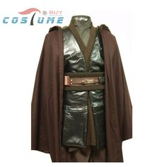 Star Wars Anakin Skywalker Adult Uniform Unner Tunic Cloak Robe For Men Movie Halloween Costumes Custom Made