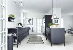 scandinavian kitchen black and white