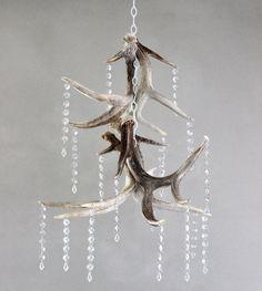 Naturally shed deer antler chandelier with by evolvinghabitat, $390.00