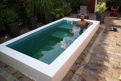 Mini Pool Are You Considering New Kitchen Cabinets? Small Backyard Design, Small Pools, Small Backyard Landscaping, Small Backyards, Backyard Pool Designs, Swimming Pool Designs, Swimming Pools, Backyard Ideas, Pool Backyard