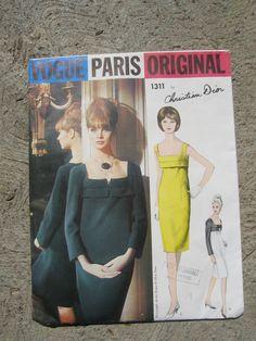 Vogue Paris Original Pattern Christian Dior Dress 60's