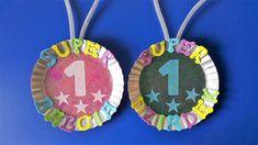 Medale z okazji Dnia Babci i Dnia Dziadka - Techno, Washer Necklace, Ideas, Diy, Jewelry, Education, Winter, Girls, Projects