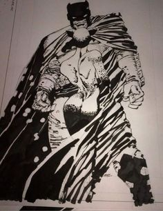 Frank Miller Batman & Catwoman Comic Art