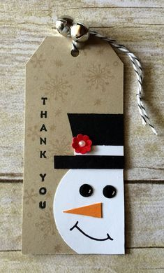in July Camp thank you tags. Attached one of these cuties to each customer order in July. Cute Christmas Gifts, Christmas Paper Crafts, Christmas Wrapping, Handmade Christmas, Tarjetas Diy, Handmade Gift Tags, Card Tags, Gift Cards, Advent