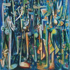 'La Jungla', 1943, by Wifredo Lam