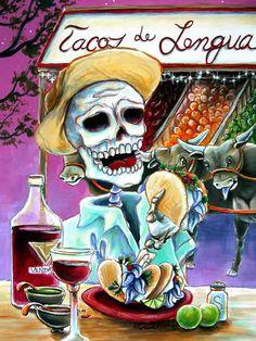 Tacos De Lengua Painting